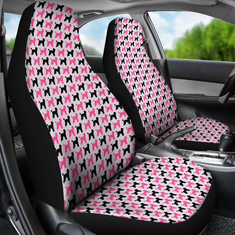 Poodle Car Seat Covers - Pink (Set of 2)