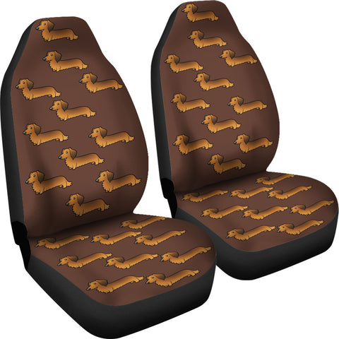 Long Haired Dachshund Car Seat Cover Set Of 2 Cathy