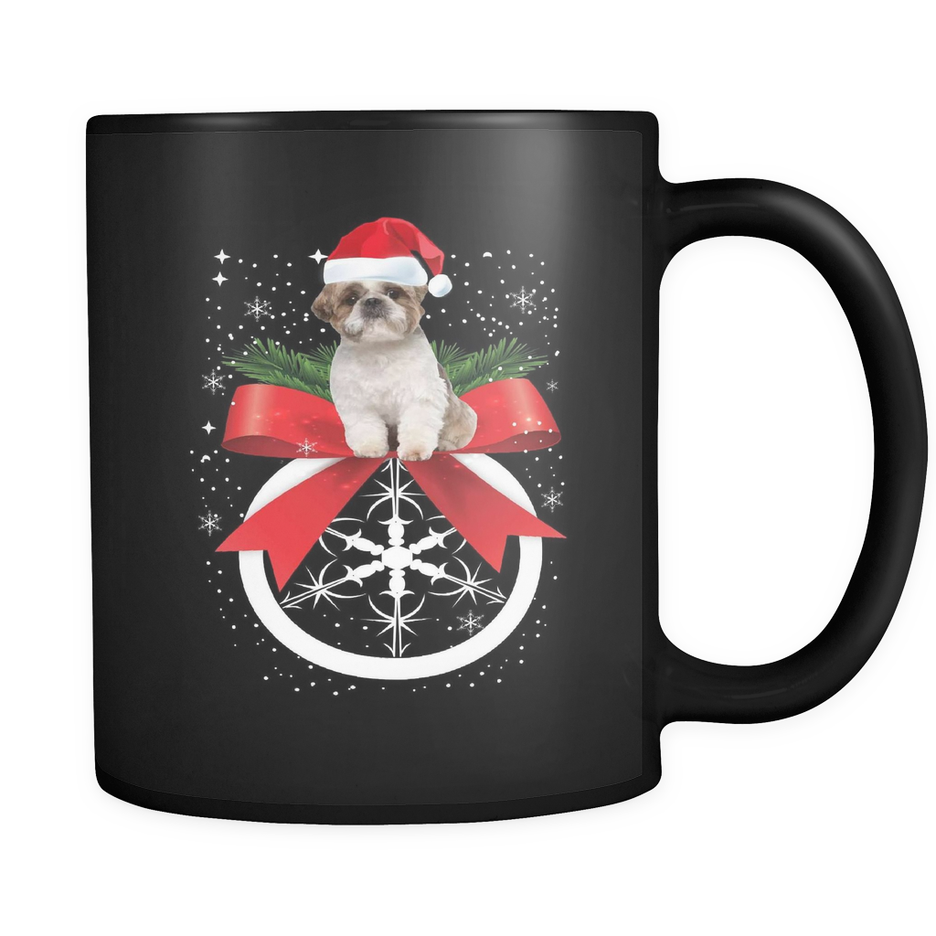 Shih Tzu Holiday Mug