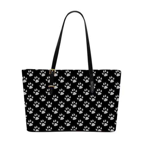 Dog Lover PUC Leather Tote Bag