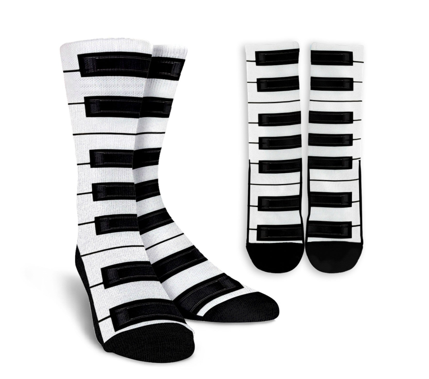 Piano Crew Socks - White