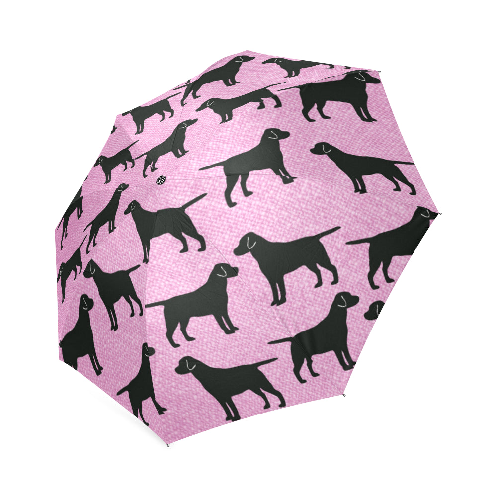 Black Labrador Umbrella - Pink