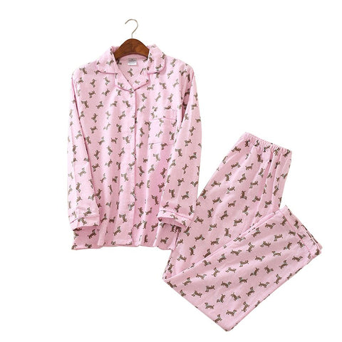 2 Piece Long Pink Dachshund PJ's