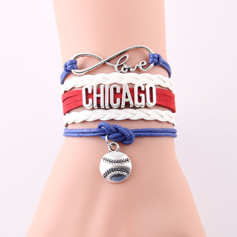 Chicago Baseball Bracelet
