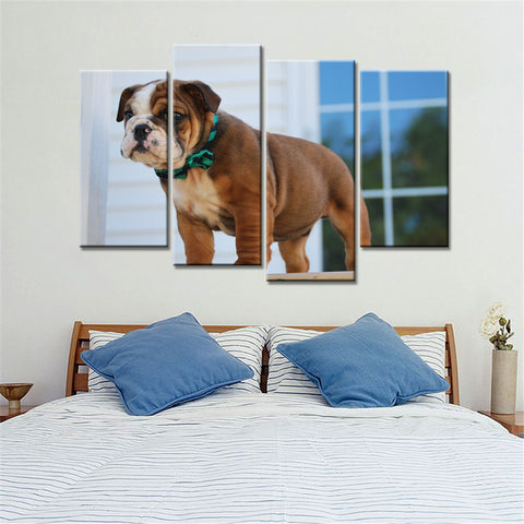 4 Piece Dog & Cat Wall Art