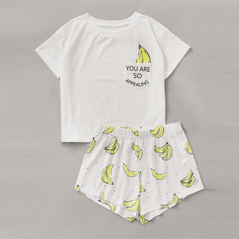 2 Piece You Are So Appealing Banana PJ Set