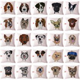 Cute Dog Pattern Pillow Cover
