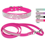 Bling Rhinestone collar & Leash Set For Small & Medium Dogs