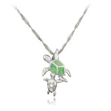 Cute Turtle Opal Necklace
