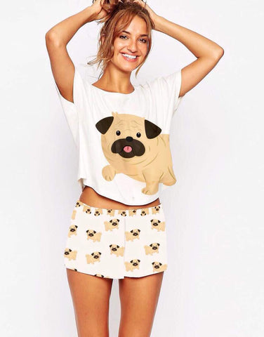2 Piece Pug PJ Set