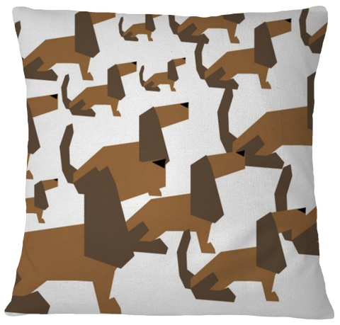 Cartoon Dachsund Pillow Case