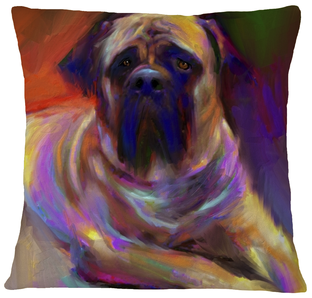 Mastiff Pillow Case Cover