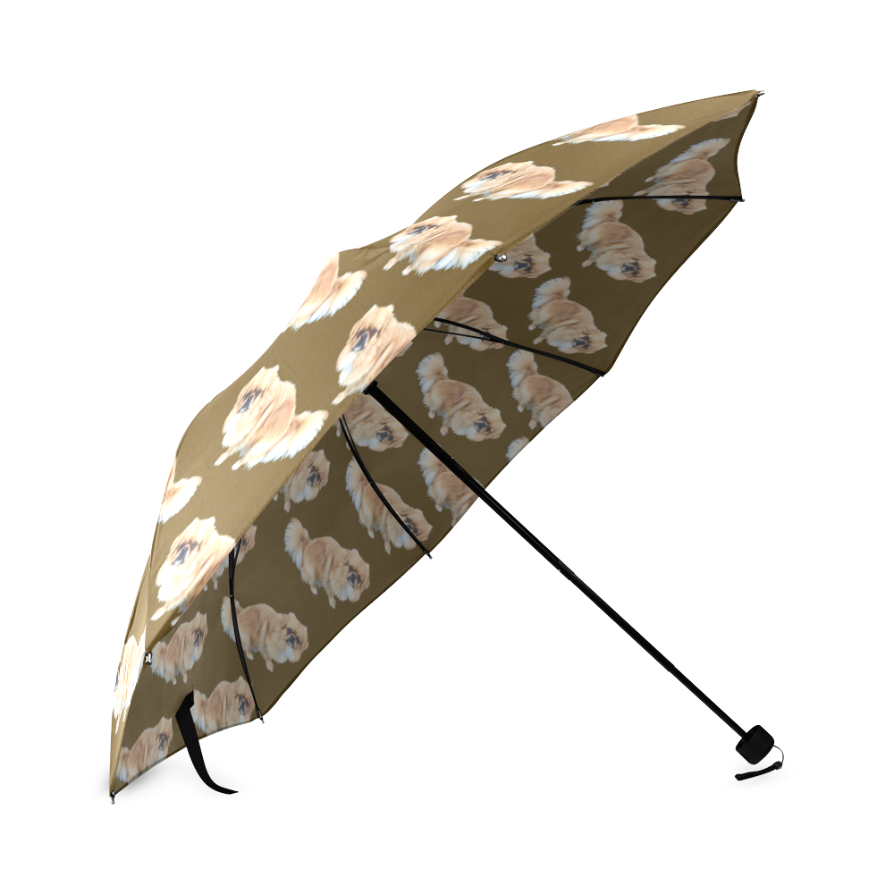 Tibetan Spaniel Umbrella - Tan