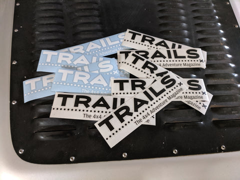 TRAILS Diecut 2.5 x 9 Inch Stickers