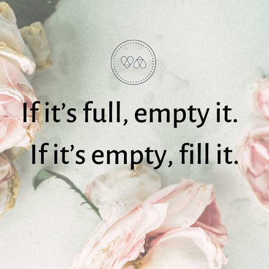 If It's Empty, Fill It, If It's Full, Empty IT