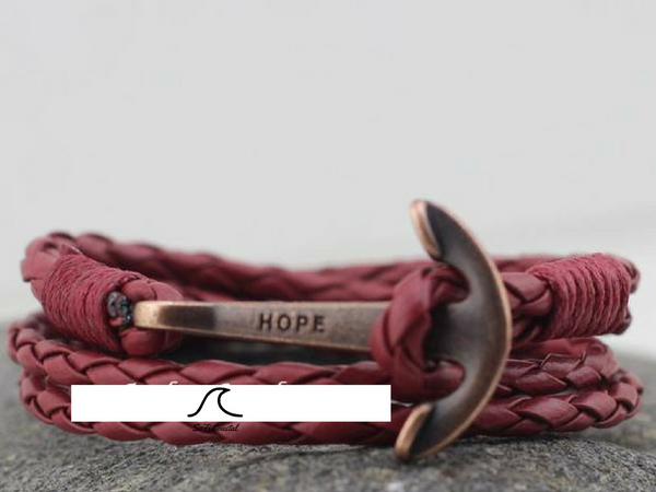 Anchorman Retro Leather Bracelet