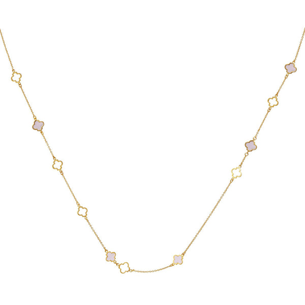 Mala Necklace Gold Blush