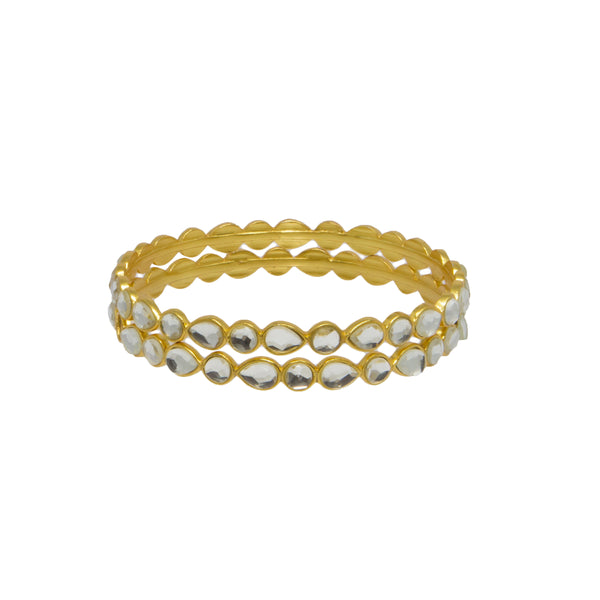 Kundan Bangle Gold