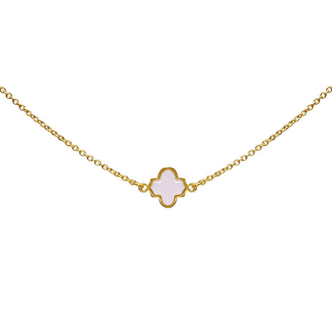 Trellis Necklace Gold Blush