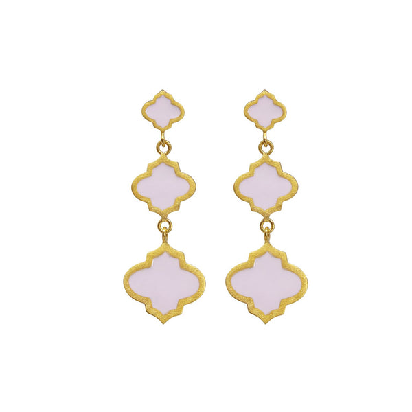 Jaali Earring Gold Blush