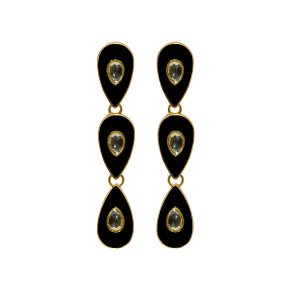 Havana Nights Earrings Black
