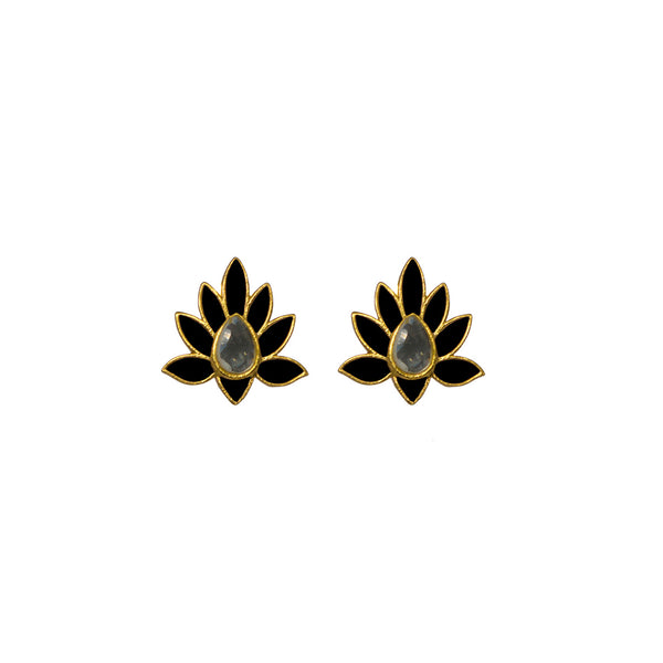 Peacock Stud Black