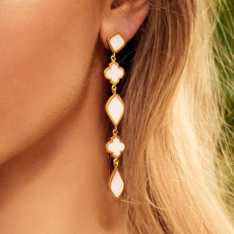 Chandra Drop Earring Blush