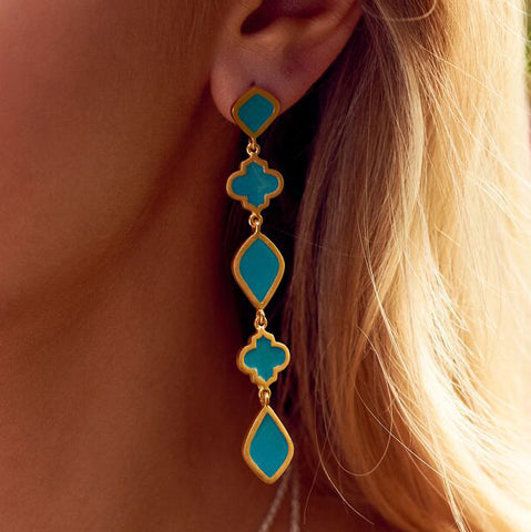 Chandra Drop Earring Turquoise
