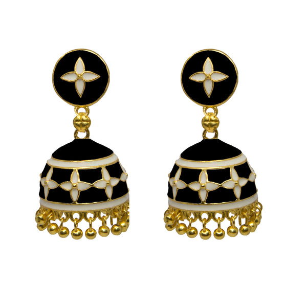 Jhumka Earrings Black