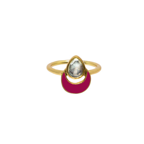 Evren Ring Hot Pink