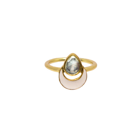 Evren Ring Pale Pink