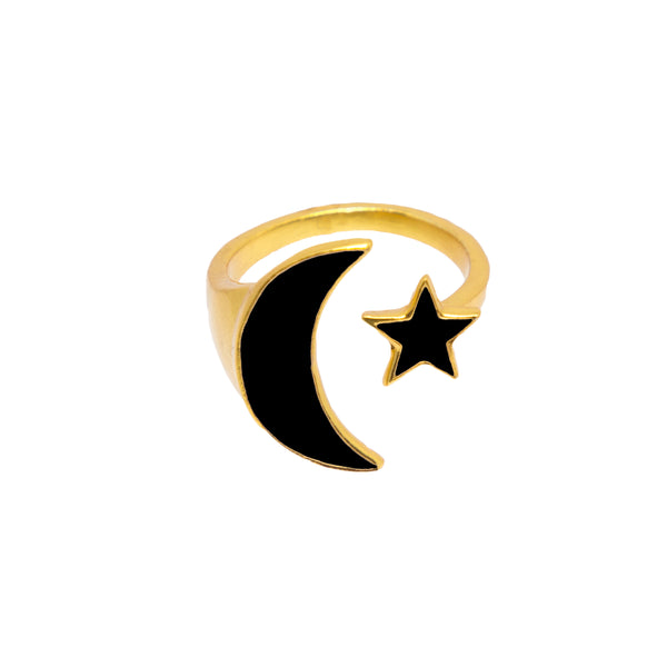 Luna Ring Black