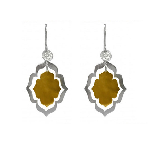 Mystic Openings Earring Sml Gold Silver