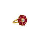 Desert Rose Ring Hot Pink