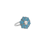 Desert Rose Ring Pale Blue