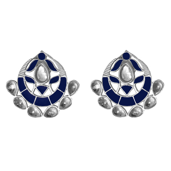 Asra Earrings Navy