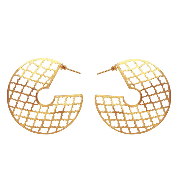 Trellis Love Earring Gold