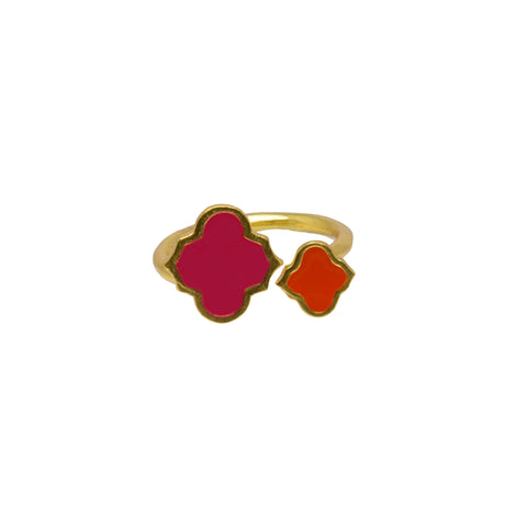 Arabesque Ring Hot Pink/Orange