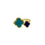 Arabesque Ring Navy/Turquoise