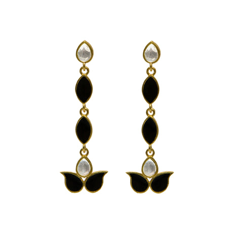 Ellora Earrings Black