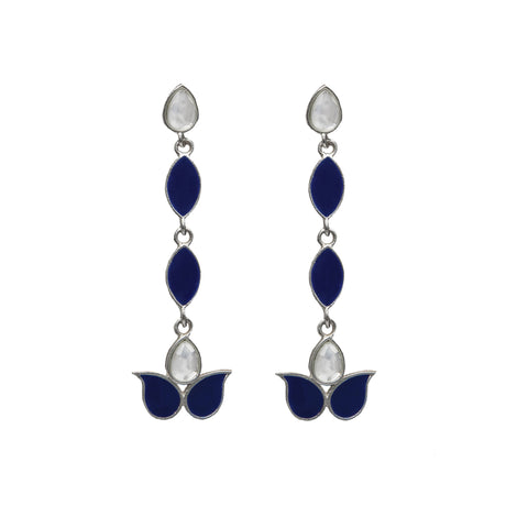 Ellora Earrings Navy