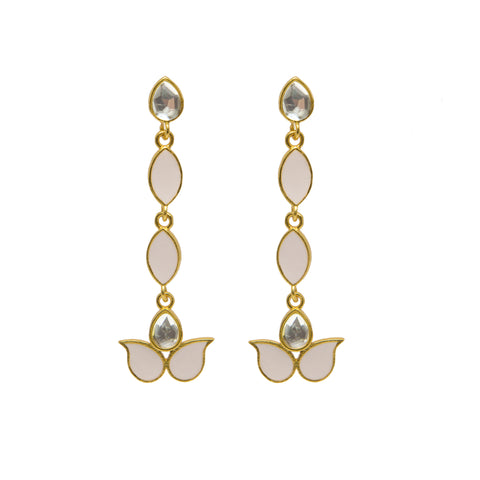 Ellora Earrings Pale Pink