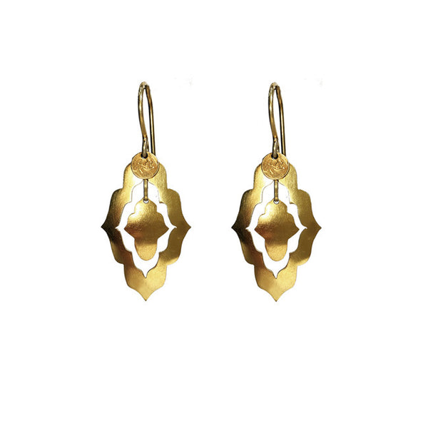 Dancing Forms Gold sterling silver earring luxe bohemian jewellery Australia