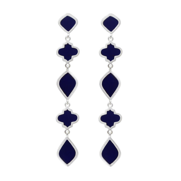 Chandra Drop Earring Navy