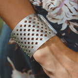 Warrior woman silver statement cuff bracelet bangle luxe bohemian jewellery