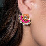 Asra Earrings Hot Pink/Orange