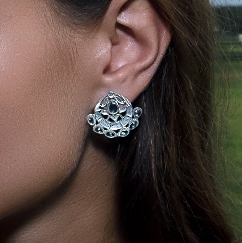 Asra Earrings Silver
