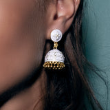 Jhumka Earrings Pale Pink
