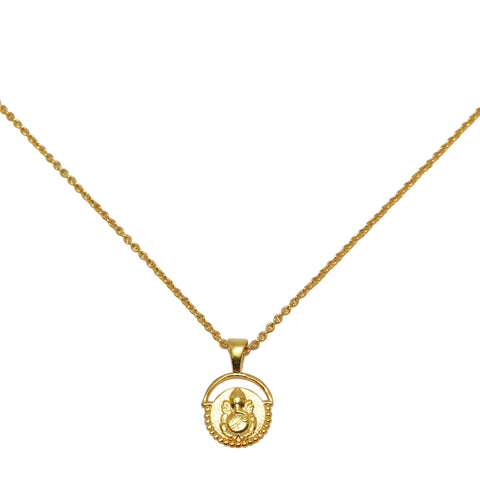 Ganesha Necklace Gold