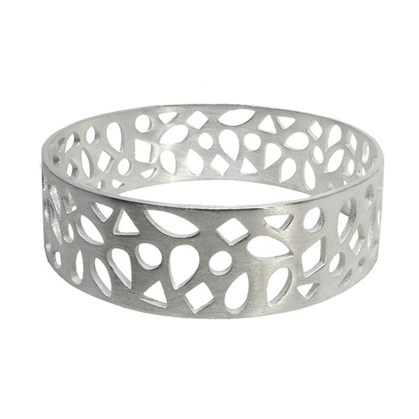 Polki sterling silver bangle luxe bohemian Australia jewellery